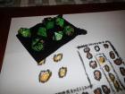 7 Würfel im Set mit Beutel - Grün - D&D - RPG