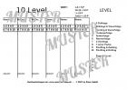 Wertungsblock - Phase 10 - Kartenspiel - Leimbindung oben - ca. 50 Blatt A5
